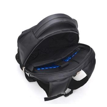 啄木鸟高档双肩背包内置手机插口耳机装置旅行书包GD3702-A:黑色