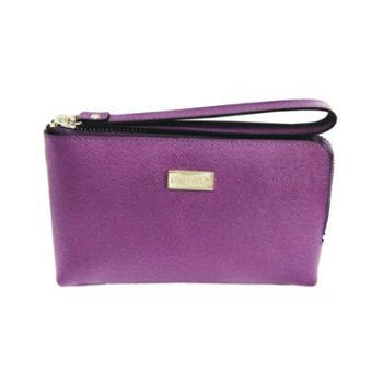 NINORIVA 尼诺里拉 紫色牛皮革女士手挽零钱包 NR60339-4