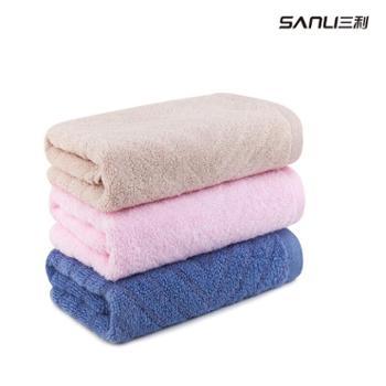 三利舒雅面巾3条3色装(粉 驼 蓝)