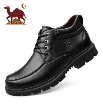 骆驼男鞋2019款商务休闲皮鞋男韩版柔软舒适软底皮鞋男士皮鞋