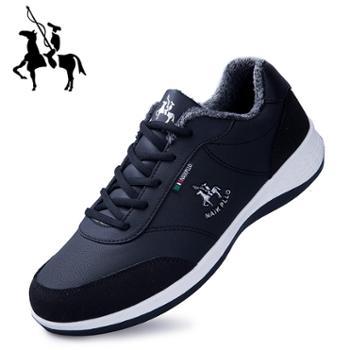 保罗2019年款男士保暖加绒棉鞋运动鞋休闲百搭板鞋男士运动鞋