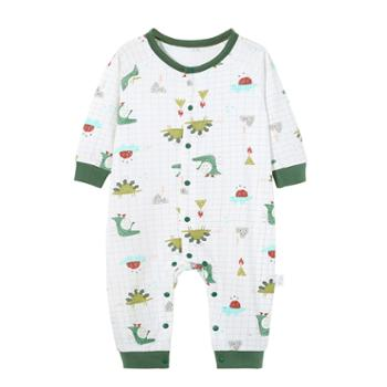 南极人婴儿连体衣秋装纯棉睡衣哈衣爬服婴儿连体衣