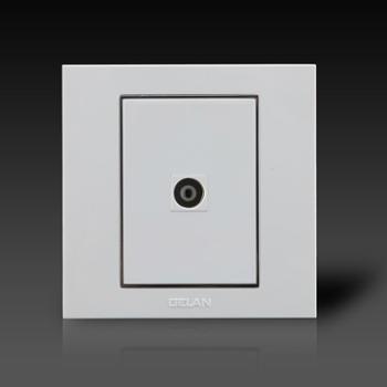 gelan开关电视分配器插座V6-521电视插座一孔电视插座白色