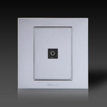 gelan开关插座电视终端插座V6-501电视插座一孔电视插座银色
