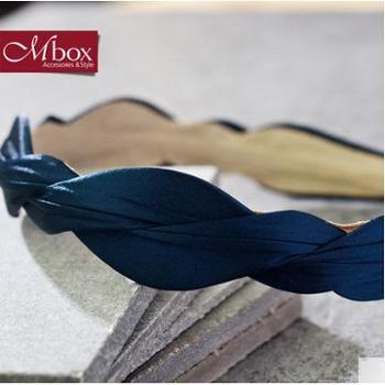 Mbox发箍女款韩国版时尚简约设计发饰边夹顶夹头饰发夹心灵依偎