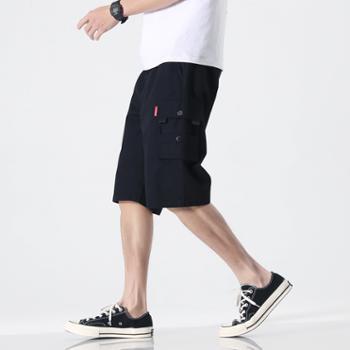 依采奴 短裤男运动裤夏季工装裤