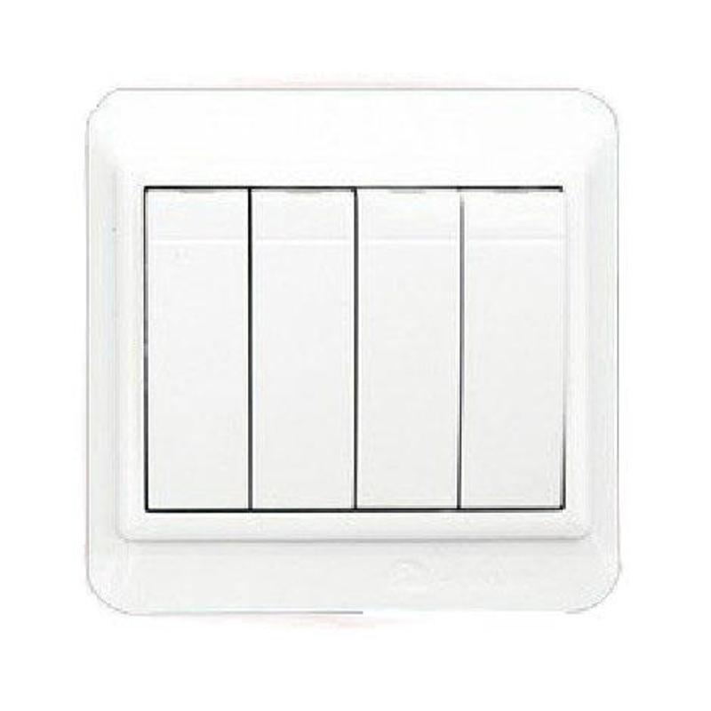 飞雕 开关插座 n8-a系列 纯白86面板 小四开双控