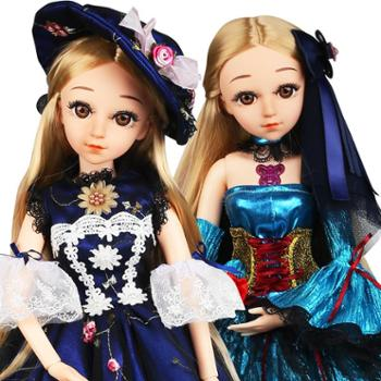 活石会说话的娃娃关节换装洋娃娃礼盒套装仿真公主60厘米bjd女孩玩具6109多款可选