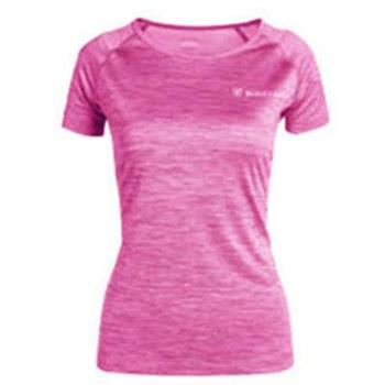 探路者T恤女新款春夏户外女式超轻透气速干衣圆领T恤短袖KAJG82352