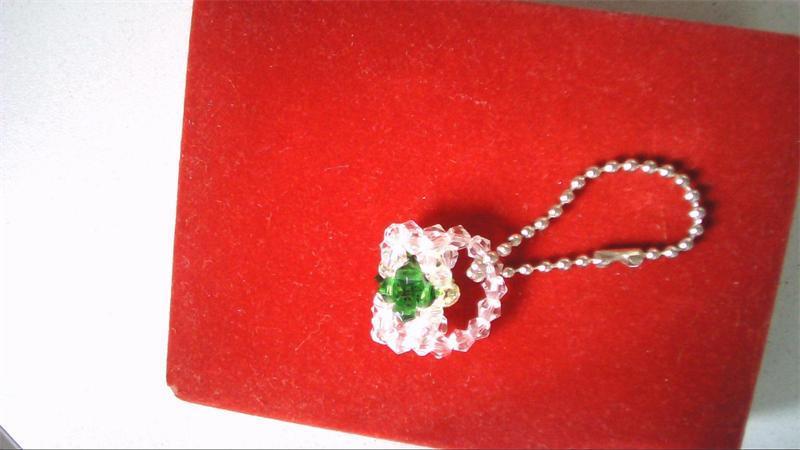 创意不锈钢瓜子器配水晶吊坠工艺造型图片