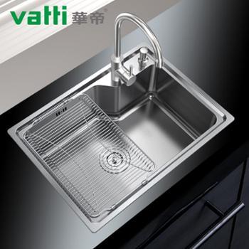 华帝(Vatti)H-A1005(58)-L.1洗菜盆 厨房水槽 304不锈钢 单槽 厨盆 水槽 加厚