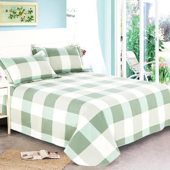 豆可杨佳人有约双人纯棉粗布床单200*230两种花色可选