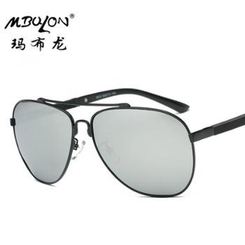 玛布龙新款太阳镜金属框架司机镜男士偏光墨镜户外8612