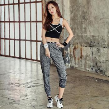 REALLION瑜伽服套装春夏健身服女健身房跑步运动背心裤子两件套