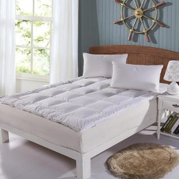 罗莱雅 鹅毛羽绒床垫全棉保暖加厚1.5/1.8米单双人羽绒床褥子垫被 VI-DB902