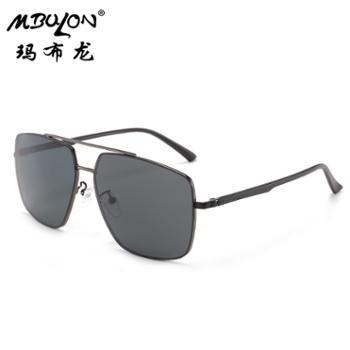 玛布龙男士尼龙偏光太阳镜户外骑行眼镜方框墨镜N505