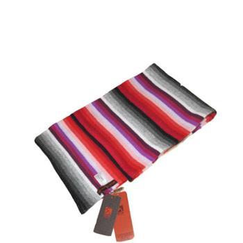 戎立特多色彩条纯羊绒围巾颜色随机E15NX-007D