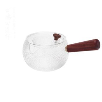 谁美纯手工锤纹侧把玻璃煮茶壶黑茶普洱茶家用泡茶壶煮茶神器