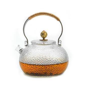 谁美日式煮茶壶烧水壶锤纹耐热玻璃沸水壶提梁壶电陶炉功夫茶具