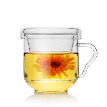 谁美芳茗杯透明耐热玻璃杯办公带盖过滤花茶杯创意水杯茶杯子yj