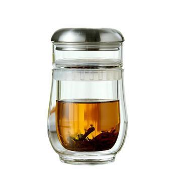 谁美手工旅行茶具套装便携包简易旅游泡茶用玻璃快客杯一壶二杯xy
