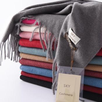 锦昂新款男女通用四季皆宜围巾流苏纯色羊绒百搭特价TNWJ8001