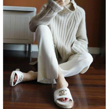 锦昂2017秋冬新款女士高领纯色宽松加厚时尚百搭羊绒衫ZS7004