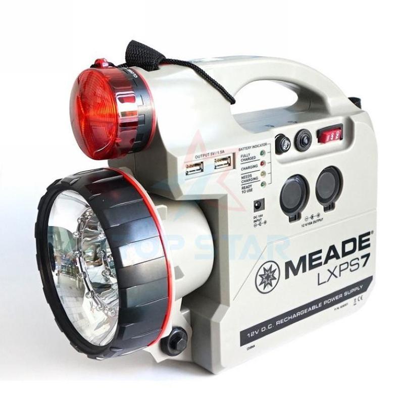 米德meade天文望远镜12v蓄电池双灯led充电电瓶应急灯 充电器