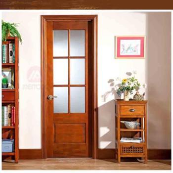 美通木门100%纯实木美式实木门全实木厨房卫生间门ID-1S-6L