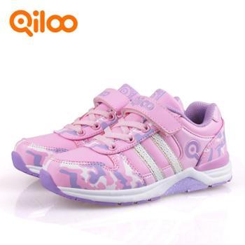 qiloo奇鹭时尚休闲女童鞋板鞋