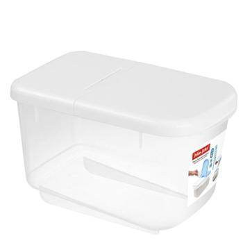 jeko&jeko 储装米箱米缸面粉防虫防潮加厚带盖10斤 白色