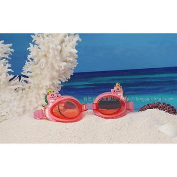 浪胜正品儿童泳镜 生肖卡通可爱俏皮游泳眼镜 自动扣防雾放水泳镜