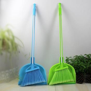 RUIYI锐益 日式可折叠畚斗组 轻巧高密度软毛塑料丝长铝柄扫把 扫帚 组合簸箕易收纳 居家必用的清洁用具