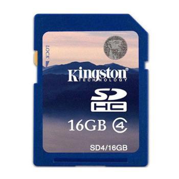 金士顿 SD卡 16G相机内存卡 class4 高速存储卡 正品包邮