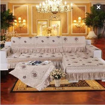 包邮哦 曼迪泰丽欧式沙发垫高档奢华田园沙发巾套罩皮坐垫夏布艺四季防滑