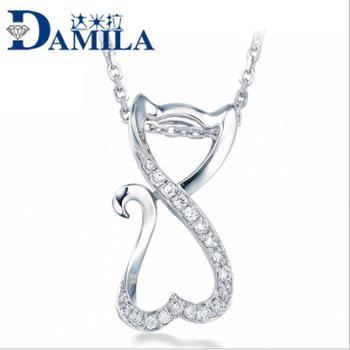 达米拉纯银饰品毛衣链 狐狸纯银吊坠 银饰品 单坠(无链)