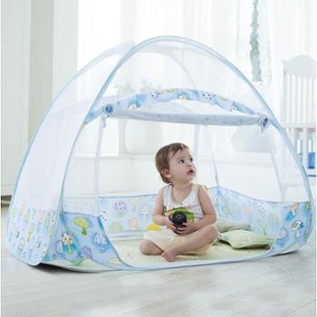 麦卡兔婴儿蚊帐罩蒙古包有底儿童宝宝婴儿床可折叠免安装长140--宽75--高90