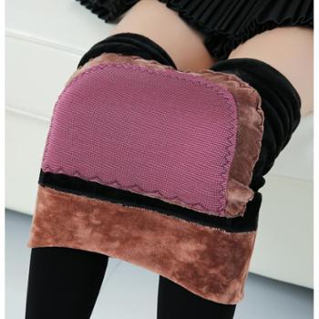 秋冬女装新款远红外磁疗暖宫打底裤加绒加厚分层踩脚一体裤女士打底裤