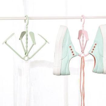 (生活家具家居生活用品)多功能阳台活动晒鞋架 创意实用可叠加可旋转悬挂式晾鞋架