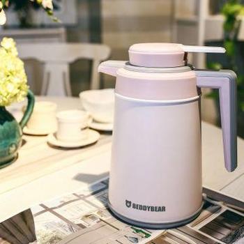 韩国杯具熊保温壶大容量暖壶保温瓶家用热水瓶时尚不锈钢水壶