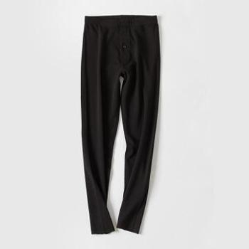 彼尔丹男士德绒保暖裤无痕轻薄自发热长裤恒温保暖加绒裤