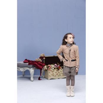 东方楚帅秋冬季羊毛混纺韩版女童短外套