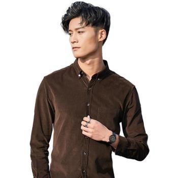 gangsta新款全棉韩版男士灯芯绒衬衫长袖复古衬衣C723