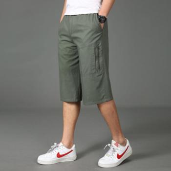 gangsta2019新款纯棉中青年宽松大码七分裤运动休闲多袋裤SQE303-H9918
