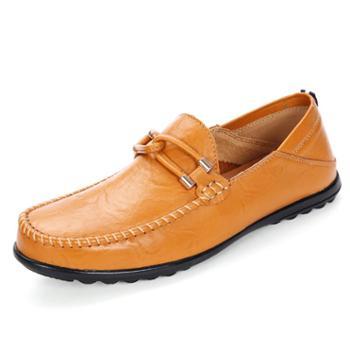 上匠风华 四季款 牛皮二层皮橡胶底 大码 男子单鞋和镂空2686