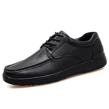 上匠风华真皮手工传统系带男鞋A0091
