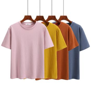 sandalling 买一送一 t恤女装2018春夏装新款韩版宽松百搭学生ulzzang半袖上衣
