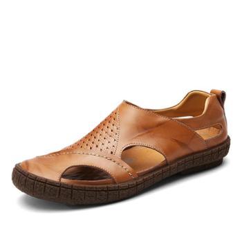 上匠风华二层牛皮男子凉鞋1838