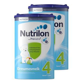 【2件装】荷兰牛栏(Nutrilon)荷兰原装进口婴幼儿配方奶粉4段(适合1-2岁)800克(新老包装随机发送)