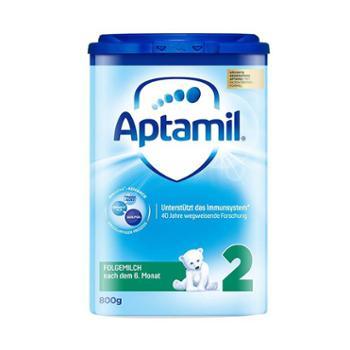 德国爱他美(Aptamil)婴幼儿奶粉2段(适合6-12个月)800克(新老包装随机发)